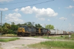 Westbound CSX Transportation Mixed Freight Train crossing 78th Street, with GE AC44CW's No. 47 and No. 38 providing power,