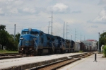 CSX Transportation Mixed Freight Train, with GE C40-8W No. 7923 in the lead,