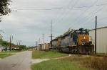 CSX Transporation Phosphate Train with two EMD SD40-2's No. 8005 and No. 8008 providing power