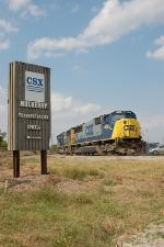 CSX Transportation Center Sign