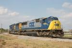 """CSX Transportation (CSX) EMD SD70M No. 4688, """"Spirit of Tampa"""" amd SD70M No. 4693"""