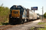 CSX Transportation (CSX) Local Freight Train led by EMD GP39-2 No. 4312