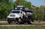 DBI, DeAngelo Brothers Hi-Rail Weed Control Truck working on the CSX Branch