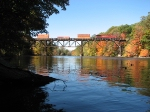 CP 9510 Leads X500-19 Across The Grand River With Some Great Fall Colors