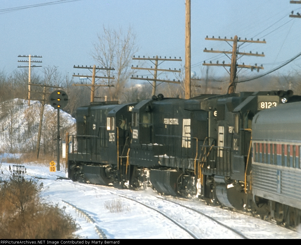 PC 8123 and Sisters Pushing The Broadway Limited