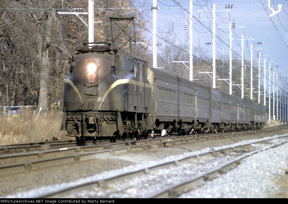 PRR GG1 At Track Speed (maybe 90 mph)