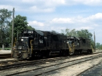 Two GP38s Waiting