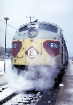 EL 833 With Train #6, The Lake Cities