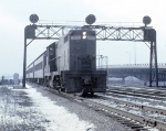 Probably the Second of Two Inbound Commuter Trains From Valparaiso, Indiana