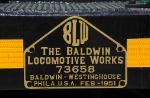 Baldwin builder's plate decal