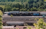 Looking down at Allentown yard