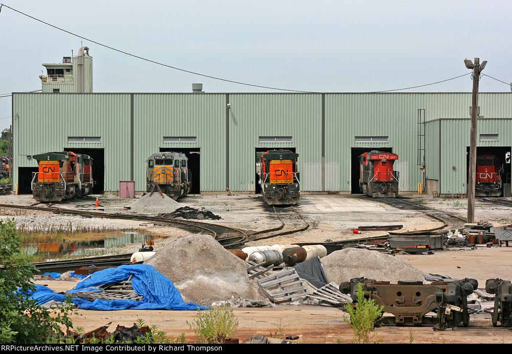 CN Homewood Yard Engine Shops