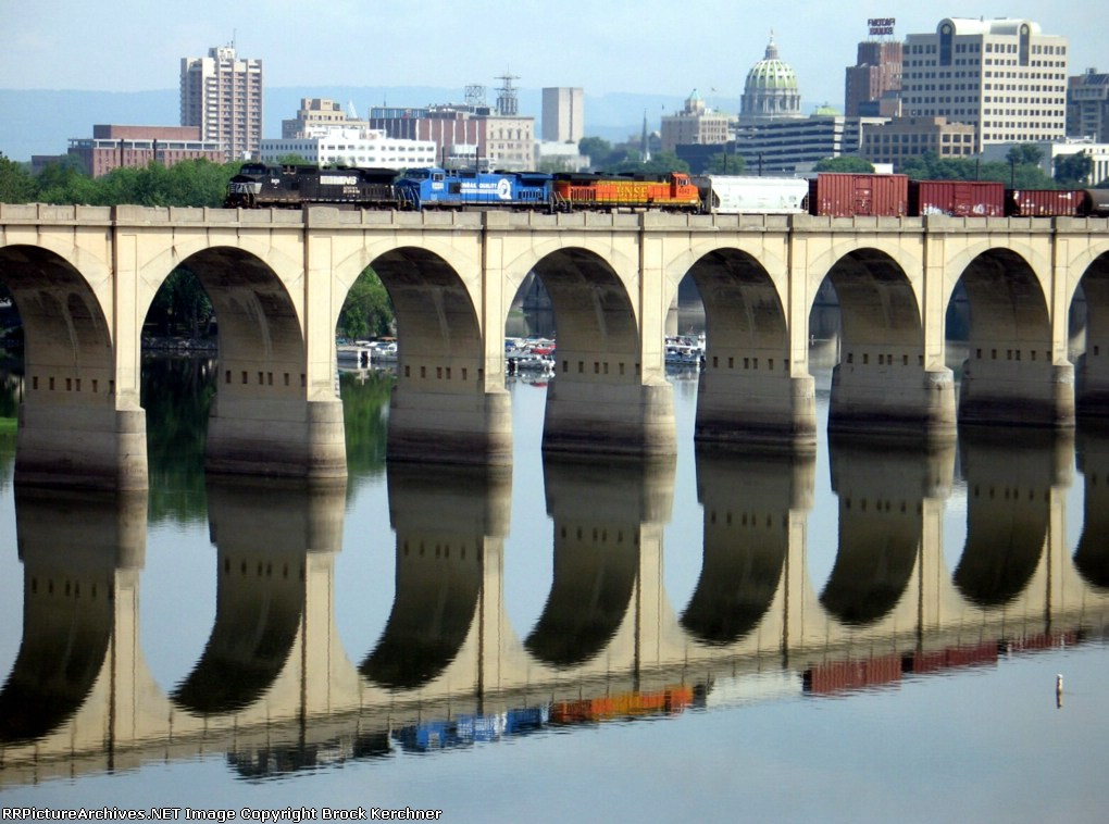 Across the Susie-Q on the ex Reading Railroad bridge