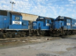 FORMER CONRAIL GP15-1'S IN DILLERVILLE YARD