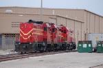 Florida Central Railroad (FCEN) EMD/ATSF CF7's No. 49, No. 48 and EMD GP7 No. 57