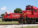 Florida Central Railroad (FCEN) EMD/ATSF CF7 No. 56 and EMD GP7 No. 57