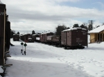C&TSRR Yard in the grip of winter...