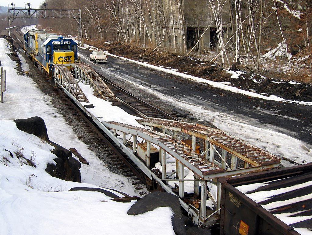 Excavator Car on CSX Tie Train