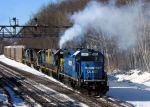 CSX 4447 in the cold