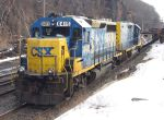 CSX 6415 with Tie Train