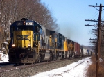 CSX 8548 in the Bitter Cold