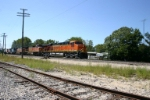 BNSF 7768 on fast Z train