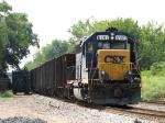 CSX 6141 work train