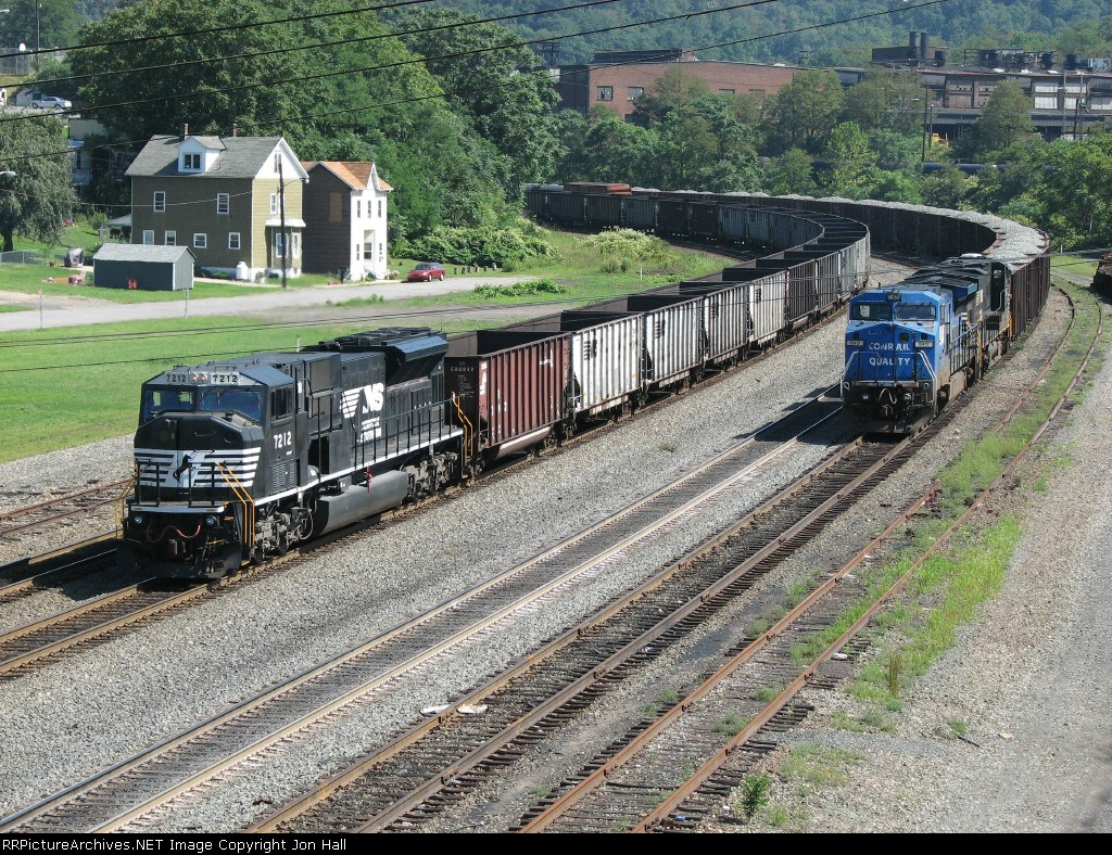 7212 passing 8417 & 7550 on the rear of C90