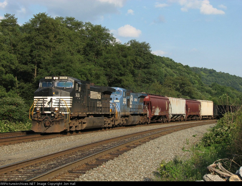 NS 9436 & 8332 rolling downhill with 19G