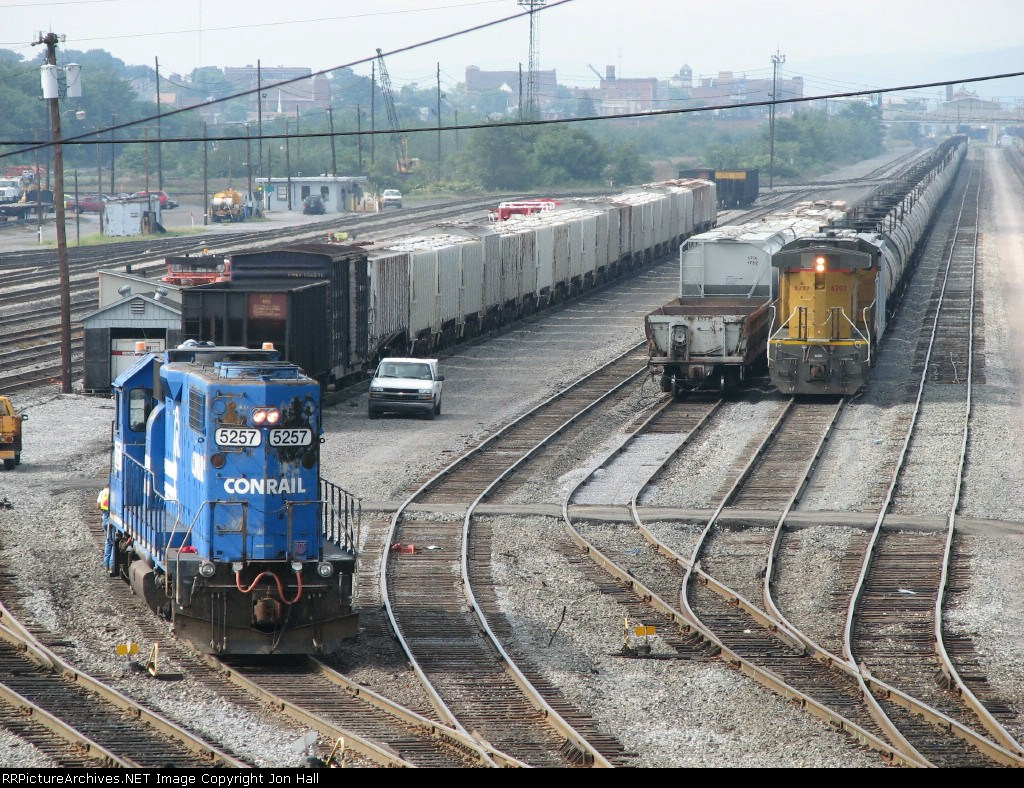 5257 works the yard as UP 6207 sits alone with a 68Q ethanol train