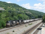 NS 6799 & 9289 leading 591 down the hill with coal empties