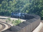 646 rolling through the curve behind all Conrail Blue