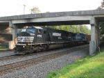 NS 6793 & 8318 leading 18G under the bridge