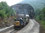 CSX 8603 & 8540 pushing S276 as the pass under Keystone Viaduct