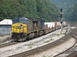 CSX 5014 & 5119 pulling Q139 over the summit of the Alleghanys