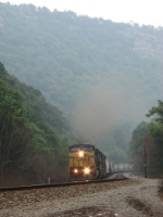 CSX 9048 leading Q359 through the Narrows