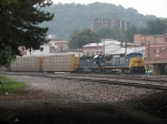 CSX 7718 & HLCX 8160 bring Q226 into the yard as we hide from the rain