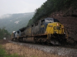 CSX 5009 brings Q216 out of the mist and fog of the Narrows