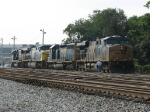 CSX 5298 leads a light power move out of the shop