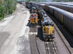 UP 9891 and BNSF 4488