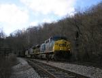 CSX 338 EB at WE Coal River Siding,