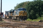 CSX 5429 Q156 heads up track 1 to pass the coal drag