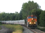 BNSF 1113 leads the RB&BB Blue Unit northward