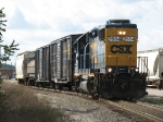 CSX 2654 leads its' transfer out of Hughart Yard