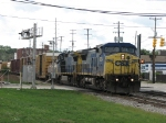 CSX 7834 & 7783 lead Q335 over Hall St
