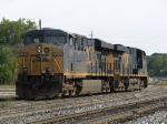 CSX 5345 & 5364 backing into the yard to pick up the cars for Q326
