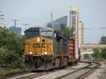 CSX 5364 leading Q326-30 away from downtown