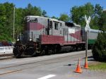 Adirondack & St. Lawrence 7249 with Crossing sign
