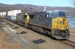 CSX 832 on Q118 at Iona Island NY