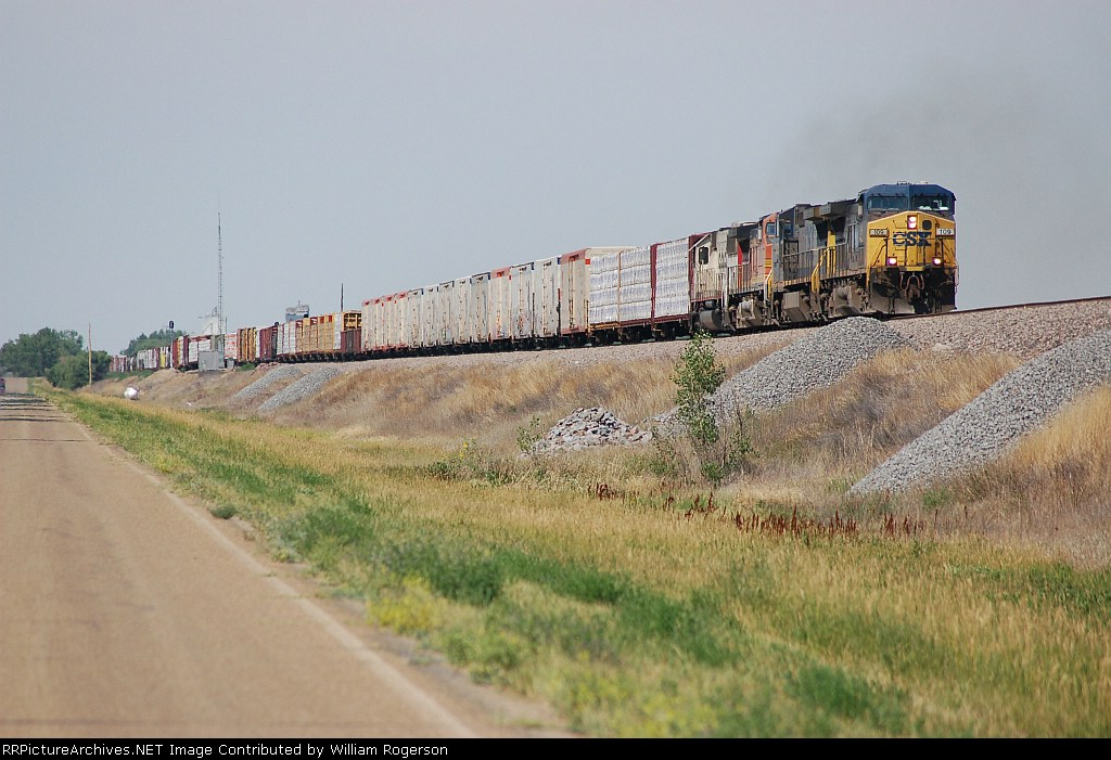 Eastbound Burlington Northern Santa Fe Railway Mixed Freight Train